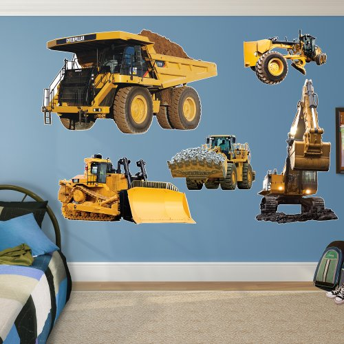 Fathead Wall Decal, Real Big, ''CAT Caterpillar Machines Collection'' by FATHEAD