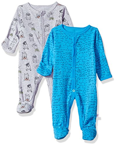 Rosie Pope Baby Boys Coveralls 2 Pack, School Theme, 3-6 Months