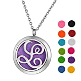 Stainless Steel Aromatherapy Essential Oil Diffuser Necklace with...