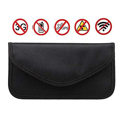 - RFID Blocking Mobile Phone Holder Anti-tracking Anti-spying GPS Rfid Signal Blocker Pouch Case Bag Handset Function Bag (Black)