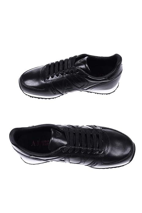 Armani Jeans Sneaker Hombre Zapatillas Negro: Amazon.es ...