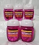 Bath and Body Works 5 Pack Pocketbac Hand Sanitizers. Watermelon Lemonade. 1 Oz
