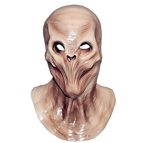 Skeleton Latex Full Head Mask Realistic Alien Head Predator Mask Halloween Costume ()