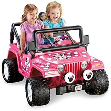 Amazoncom Fisher Price Power Wheels Disney Minnie Mouse Jeep 12