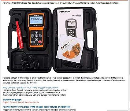 Check Tpms System >> Nt1001 Tpms Trigger Tool Decode Tire Sensor Id Mode Check Rf