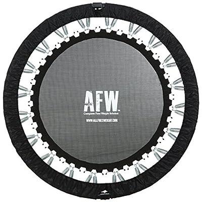 AFW 106012 106012-Trampolín Profesional Plegable, 112 cm de diámetro, Color, Talla M, Hombres, Negro, U: Deportes y aire libre