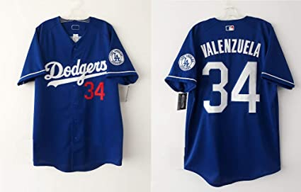 c0498436e Camisola Béisbol Los Angeles Dodgers Azul Fernando Valenzuela Marca MVP  (Azul