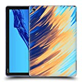 Official Andi Greyscale Two Sides of One Extreme Abstract Marbling Soft Gel Case Compatible for Huawei MediaPad M5 Lite