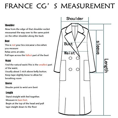 CG Women's Long Double Wool Coat Lapel Parka Jacket Cardigan Overcoat Outwear with Belt G026 (Beige, L) by CG Chris Gelinas (Image #3)