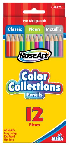 RoseArt Collection Pencils 12 Count CYB45 product image
