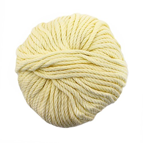 JubileeYarn Bamboo Cotton Chunky Yarn - Almond Milk - 2 Skeins ()