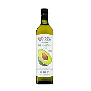 Chosen Foods 100% Pure Avocado Oil 1 L, Non-GMO, for High-Heat Cooking, Frying, Baking, Homemade Sauces, Dressings and Marinades