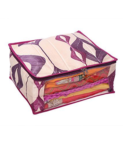 Kuber Industries™ Heavy Quilted Large Saree Cover (With Capacity of upto 15 Sarees)Colour and Print might vary according to availibility