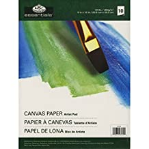 Royal Brush and Langnickel 10-Sheet Canvas Essentials Artist Paper Pad, 9-Inch by 12-Inch
