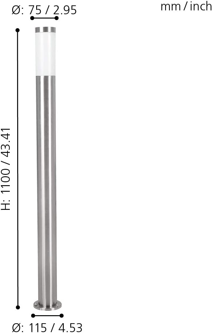 color blanco /L/ámpara de pie Eglo 81752/ E27