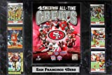 Encore Select 531-29 NFL San Francisco 49ers 6-Card Plaque, 13-Inch by 37-Inch