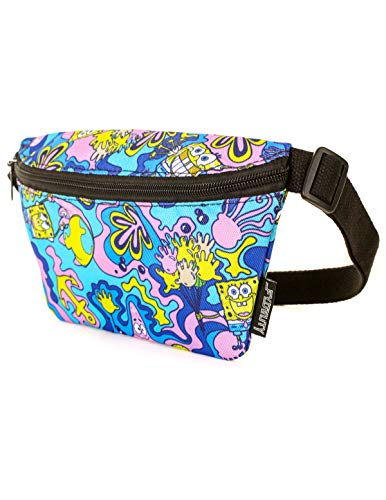 FYDELITY Ultra Slim Fanny Pack Belt Bag -NICK Nickelodeon 90's Patrick Star SpongeBob Square-Pants Bum-bag | For Cute Funny Waist Pouch/Phanny/Backpack/School Kids/Boy/Girl/Men/Women/Gift/Accessories]()