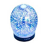 Blueskyvalues 3D Stars Essential Oil Diffuser Aroma Essential Oil Cool Mist Humidifier,Waterless Auto Shut-off and 7 Color LED Lights Changing for Home or Office.