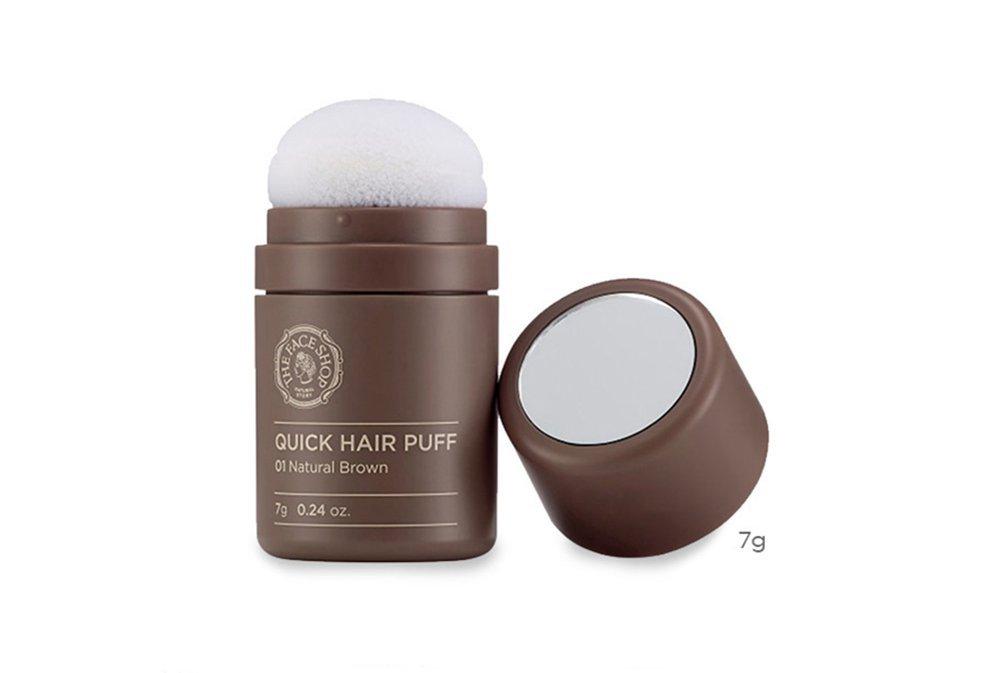 The Face Shop Quick Hair Puff Hair Line Touch Waterproof 7g(0.24oz) (Dark Brown)