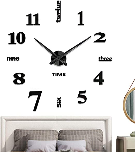 Amazon Com Vangold Frameless Diy Wall Clock 3d Mirror Wall Clock Large Mute Wall Stickers For Living Room Bedroom Home Decorations Home Kitchen,Baby Closet Organizers Ideas