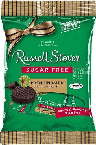 Russell Stover Premium Dark Solid Chocolate Sugar Free (Sugar Free Russell Nutrition Stover)