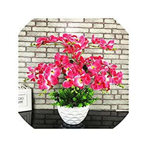 Artificial Flowers Silk Orchid DIY Artificial Orchid Fake Flowers Bouquet for Wedding Home Party Office Decoration Flowers,2 9