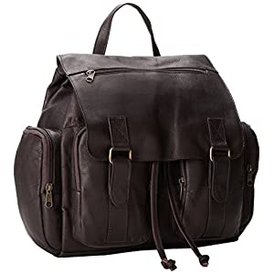 David King Laptop Backpack w/2 Front Pockets in Cafe
