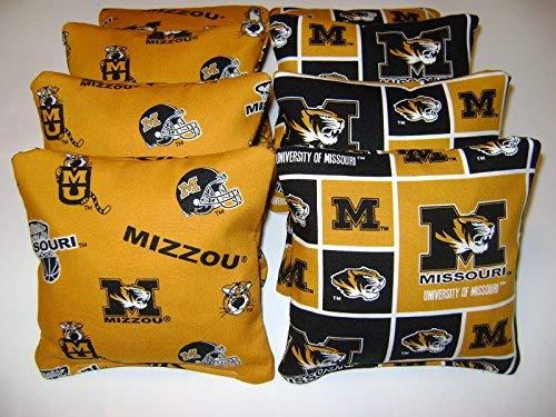 8 Cornhole Missouri Mizzou Tigers Corn Hole Bean Bags Baggo Tailgate Toss