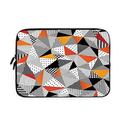 Abstract Home Decor Laptop Sleeve Bag,Neoprene Sleeve Case/Contrasting Fashionable Polygonal Artwork with Panes Craft Projects Decorative/for Apple MacBook Air Samsung Google Acer HP DELL Len -  iPrint, BJBNDB_AD__00071_K39xG28