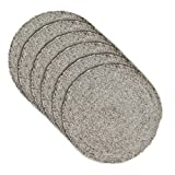 VHC Brands Christmas Holiday Tabletop & Kitchen - Dyani Grey Round Tablemat Set of 6, 13 x 13 Silver