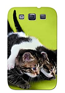 Tpu Exultantor Shockproof Scratcheproof Cats Animals Feline Kiens Green Hard Case Cover For Galaxy S3 For Lovers