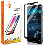 KOKO 5D Tempered Glass with Curved Edges and 9H Hardness - Full Glue Edge-Edge Screen Protection for Nokia 5.1 Plus (Black)