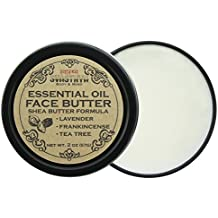 Essential Oil Face Butter, with Lavender, Frankincense, and Tea Tree Oil, For Irresistibly Soft, Smooth, Clear Skin 100% Natural, Non GMO, Cruelty Free