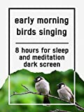 Early morning birds singing, 8 hours for Sleep and Meditation, dark screen