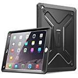 iPad Air 2 Case - Poetic iPad Air 2 Case [Revolution Series] - [Heavy Duty] [Dual Layer] [Screen Shield] Protective Hybrid Case with Built-In Screen Protector for Apple iPad Air 2 Black (3 Year Manufacturer Warranty From Poetic)
