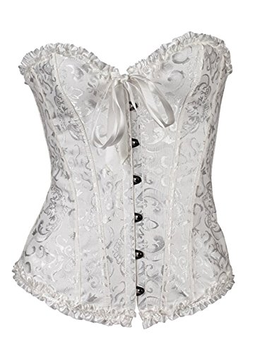 Find Dress Women's Classic Lace Corset Waist Cincher Large White