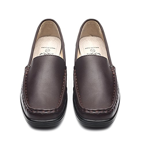 Flat Loafer Women's DRKA On Shoe Casual Comfort Slip Brown933 PqEwBY