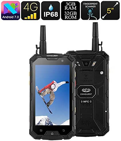 Conquest S8 32GB Rugged Smartphone Octa Core 3GB RAM Android 7 4G ...