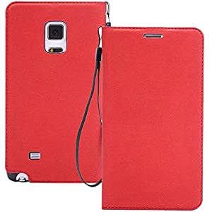Outtop Cloth Designs Stand Leather Case For Samsung Galaxy Note Edge N9150 Red
