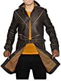 Outfitter Jackets Men's Aiden Pearce Watch Dogs Coat Jacket X-Small Brown