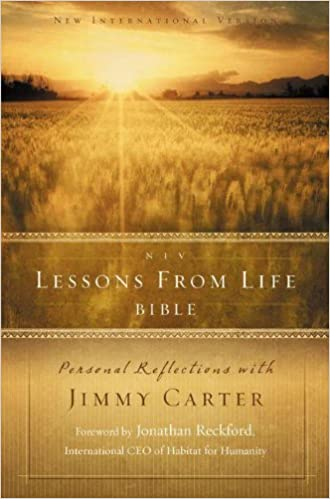 image for NIV, Lessons from Life Bible, Hardcover: Personal Reflections with Jimmy Carter