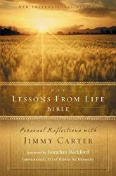 NIV, Lessons from Life Bible, Hardcover: Personal Reflections with Jimmy Carter
