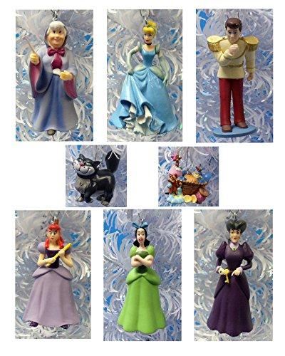 Lucifer Cinderella: CINDERELLA Set Of 8 Holiday Christmas Tree Ornaments