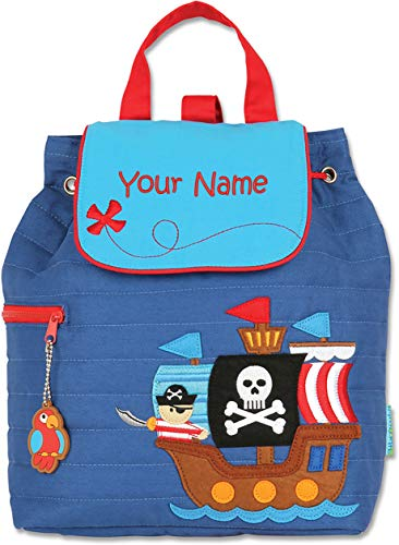 (Personalized Stephen Joseph Pirate Quilted Backpack with Embroidered Name)