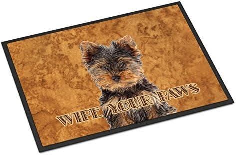 Caroline s Treasures KJ1223JMAT Yorkie Puppy Yorkshire Terrier Wipe Your Paws Indoor or Outdoor Mat 24×36, 24H X 36W, Multicolor