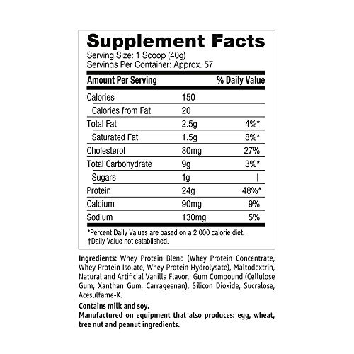 Amazon Brand - Solimo Whey Protein Powder, Vanilla,5 Pound (57 Servings) by SOLIMO (Image #2)