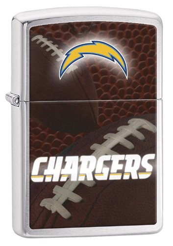 Zippo Pocket Lighter NFL San Diego Chargers Brushed Chrome Pocket Lighter (Zippo Nfl San Diego Chargers)