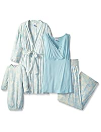 Everly Grey Women's Maternity Roxanne Nursing Pajama Set with Baby Gown