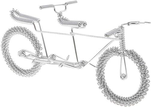 B Blesiya Metal Craft Tándem Bicicleta Modelo Hogar Colección ...