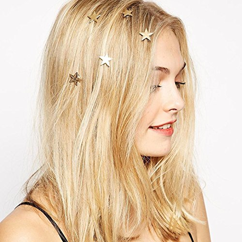 Casual Korean hairpin hairpin hair jewelry simple hollow plug horsetail hair clip hairpin pearl stars for women girl lady